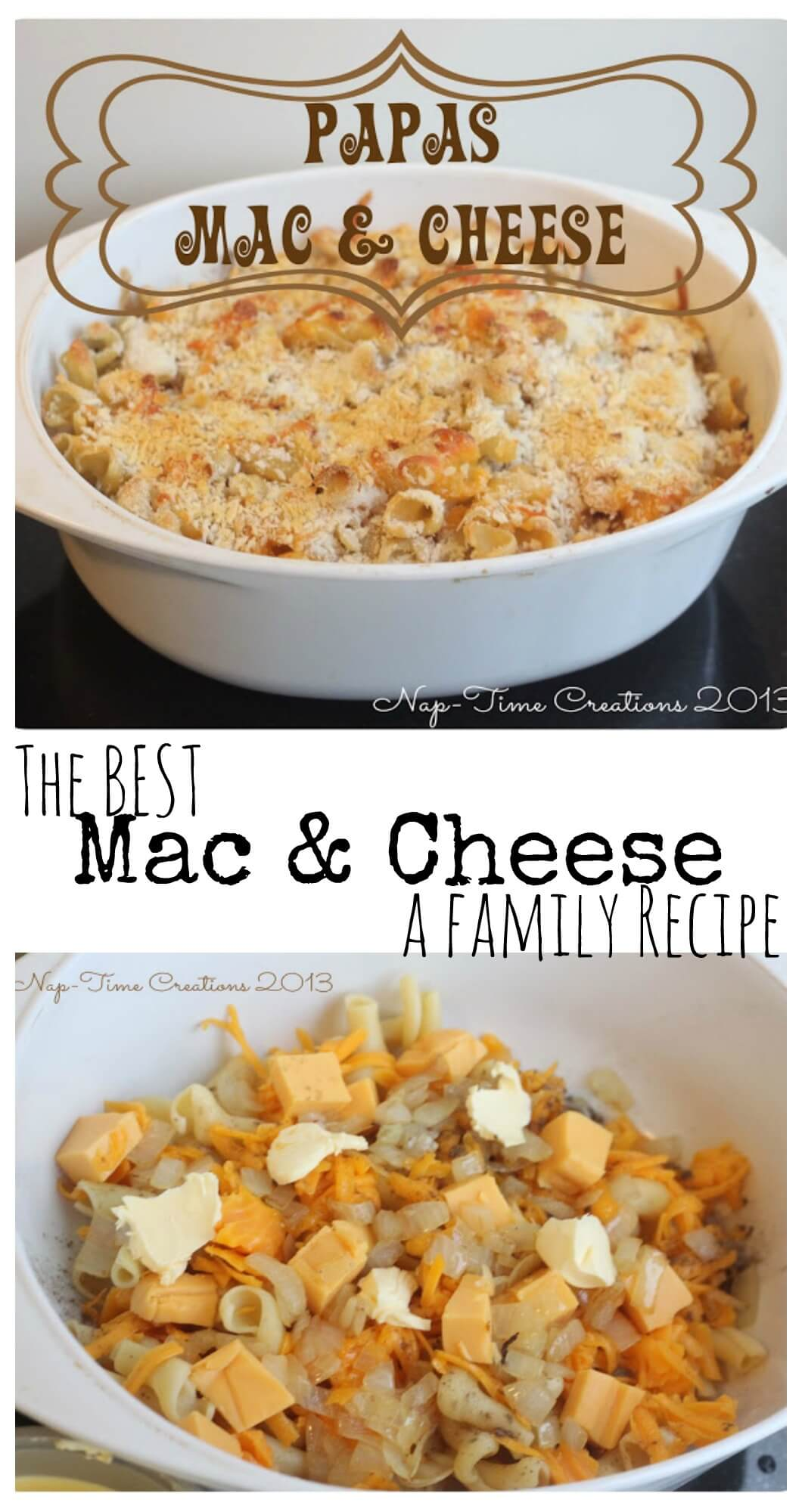 Baked Mac and Cheese Recipe from Nap-Time Creations.com
