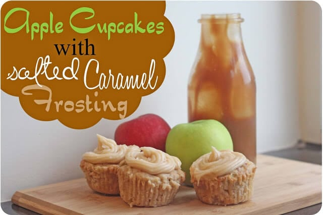 Apple Cupcakes with Salted Caramel