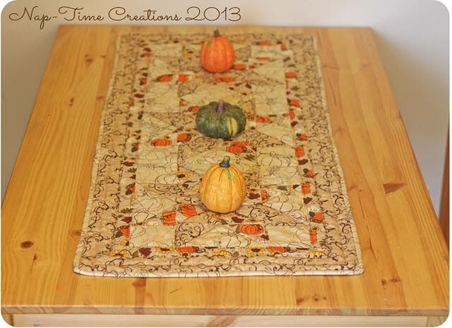 Sewing Pattern fall table runner