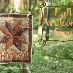 Fall Welcome Sign {quilted}