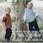 Kids Clothing Week 4{Sewing Jeans for boys}
