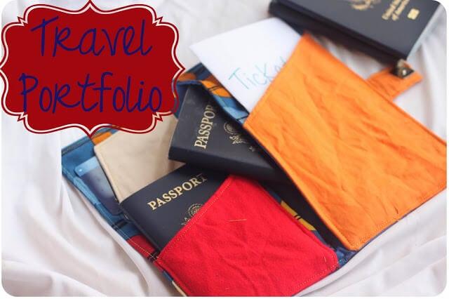 Travel Portfolio Sewing Tutorial