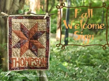 fall welcome sign a quilted sewing project