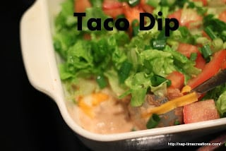 http://lifesewsavory.com/2012/08/taco-dip-and-tasteful-tuesday.html