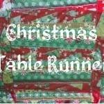 Christmas Table Runner Sewing Tutorial
