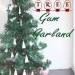 Mini-Tree Garland #GiveExtraGum