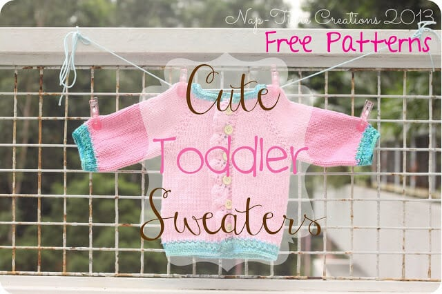 Toddler Sweaters Free Knitting Patterns