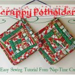 Quilted Christmas Potholder Tutorial