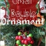 Bauble Chrismtas Ornament {and giveaway!!}