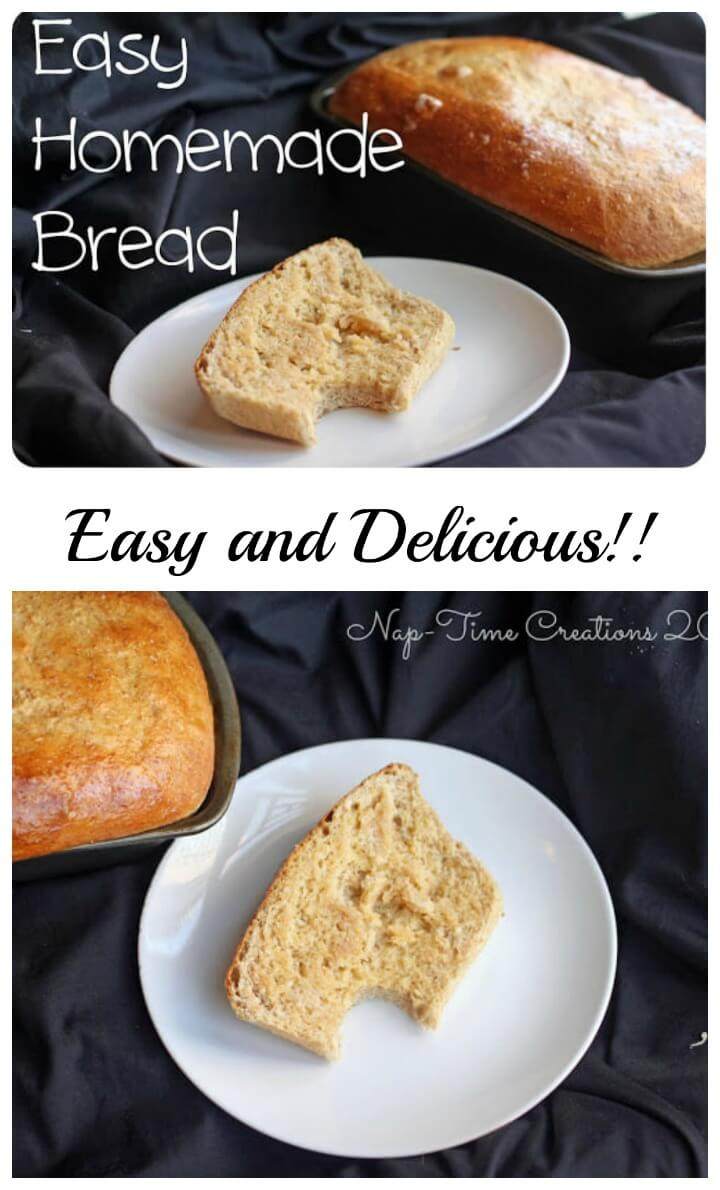 easy homemade bread from Nap-Time Creations