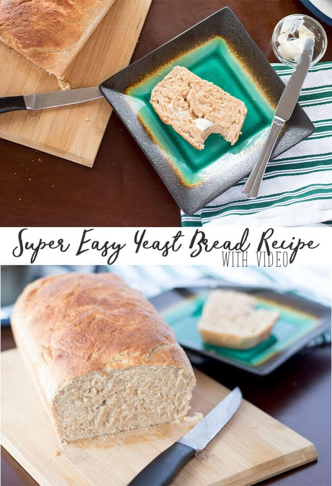 super Easy Bread Recipe with yeast photos and video directions from Life Sew Savory