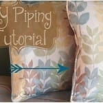 DIY Piping Sewing Tutorial
