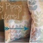 DIY Piping Sewing Tutorial