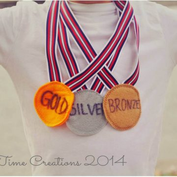 Felt Olympic Medal
