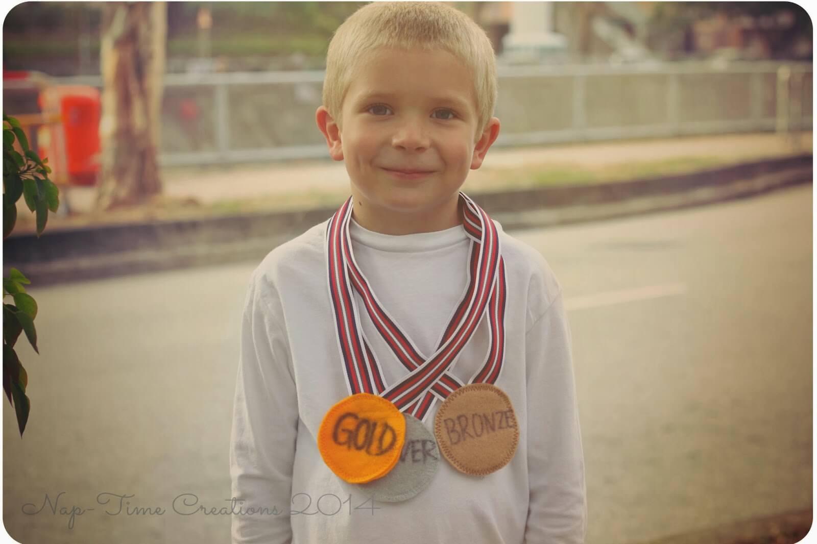 felt olympic medals