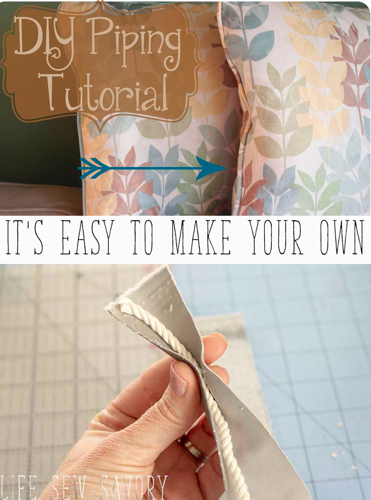 how to make your own piping sewing tutorial from Life Sew Savory
