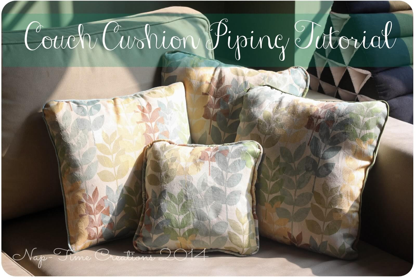 Sewing A Throw Pillow With Piping Tutorial Nap Time
