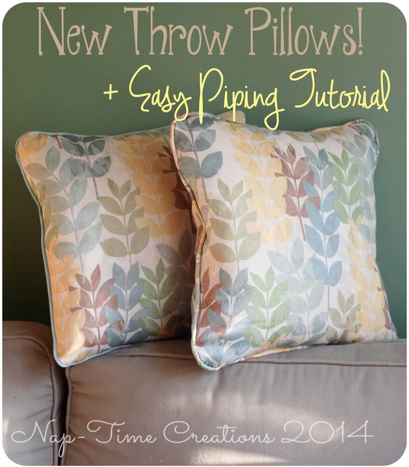 Throw Pillow with Piping and a DIY