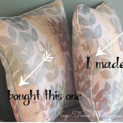 Sewing a Throw Pillow with Piping {Tutorial}