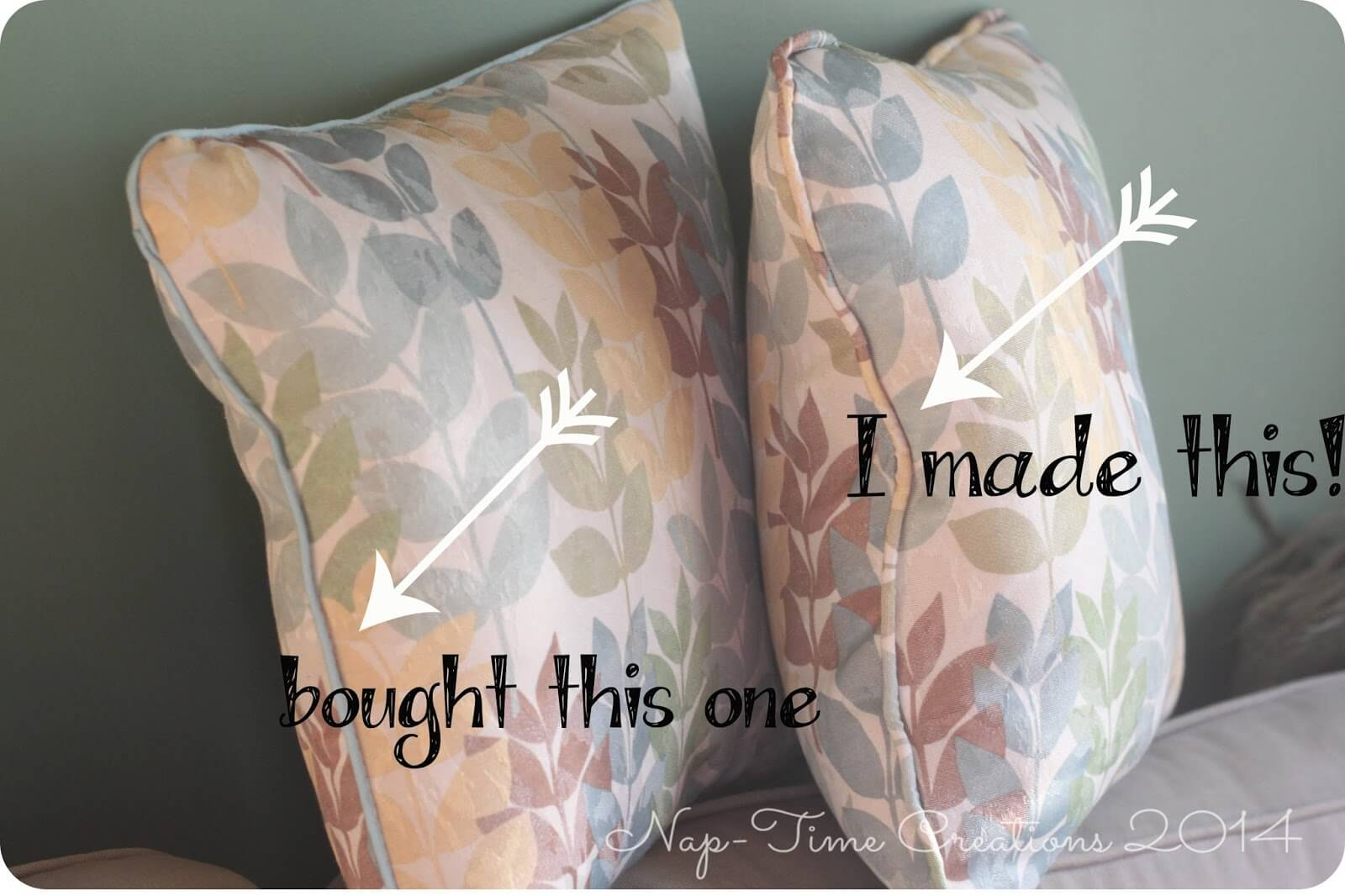 Throw Pillow with Piping DIY tutorial