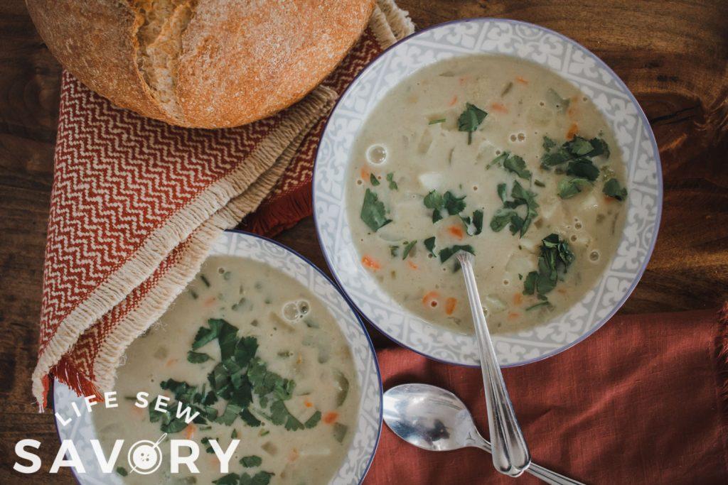lights and easy potato soup