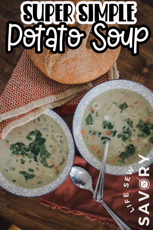 simple light potato soup