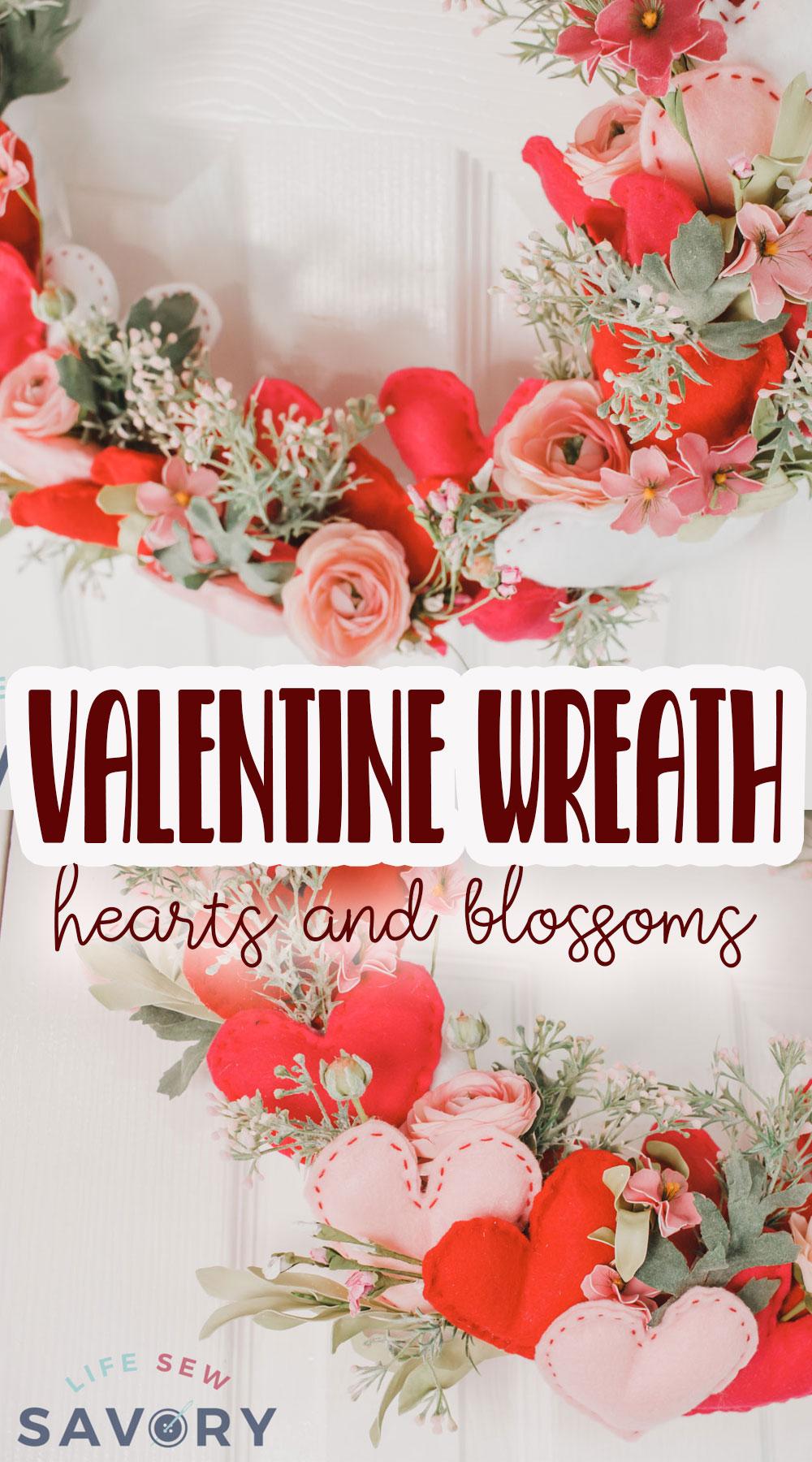 diy valentines wreath crafting tutorial