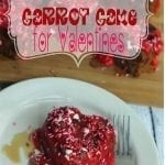 Valentines Carrot Cake {with cinnamon and caramel}
