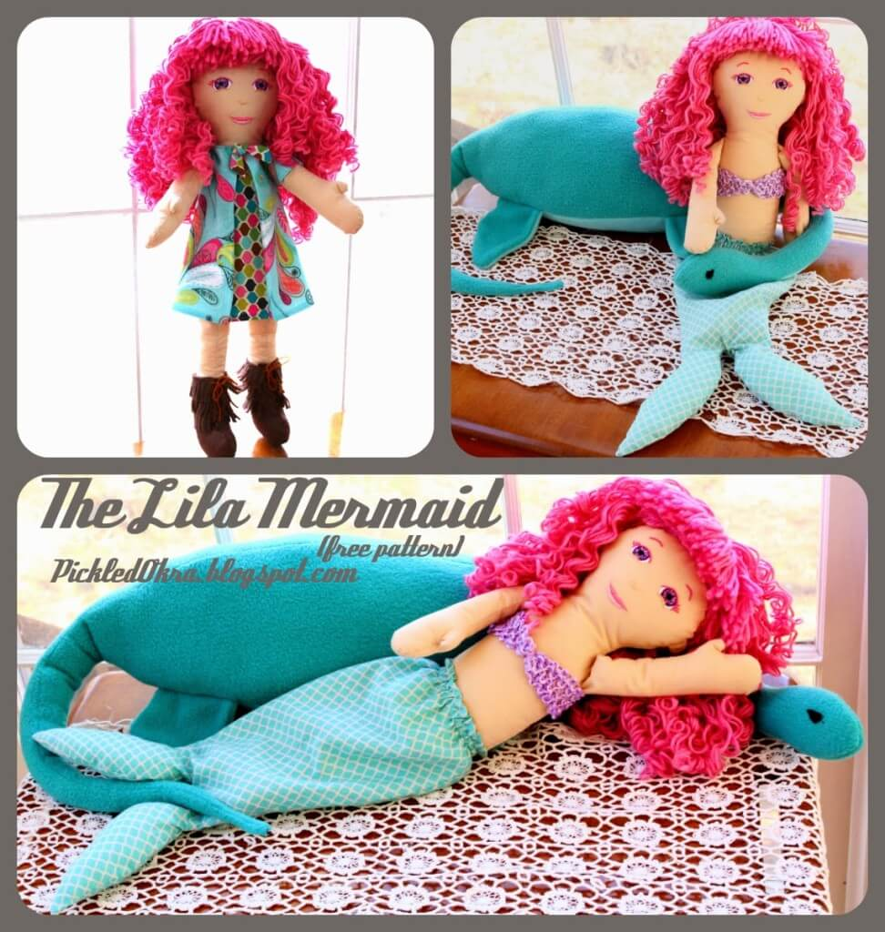 free mermaid doll pattern