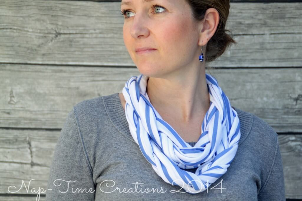 braided cowl sewing tutorial for beginners