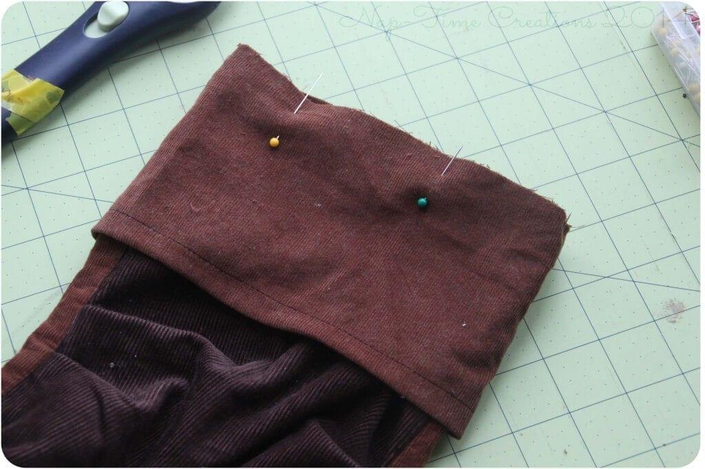 adding a cuff to pants