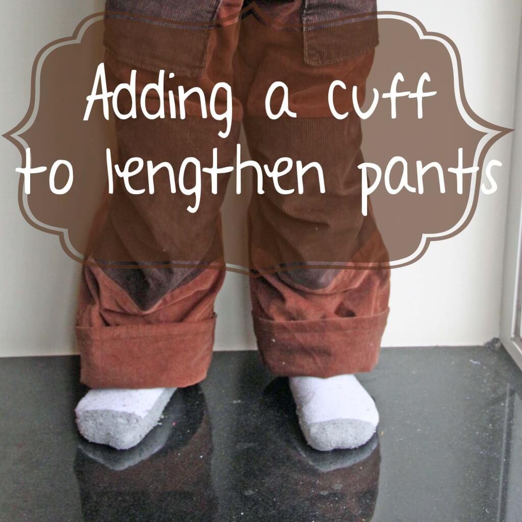 Adding cuffs to pants