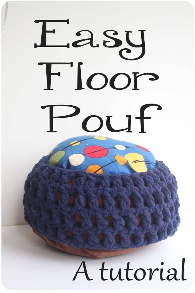 easy floor pouf tutorial