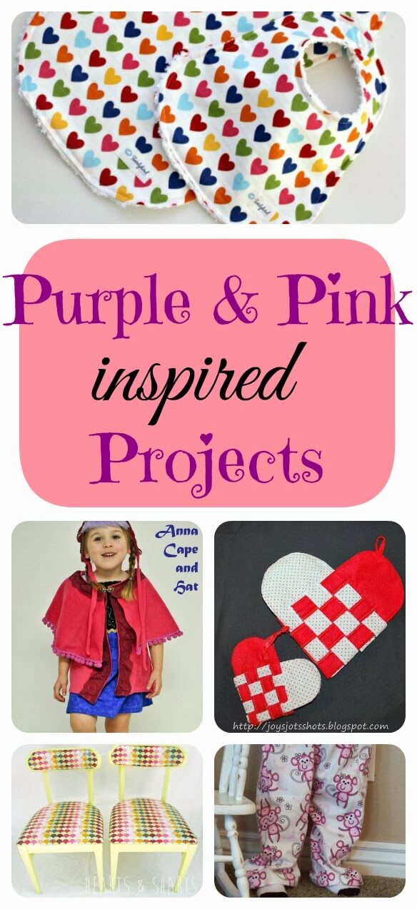 Sewing with Pink and Purple