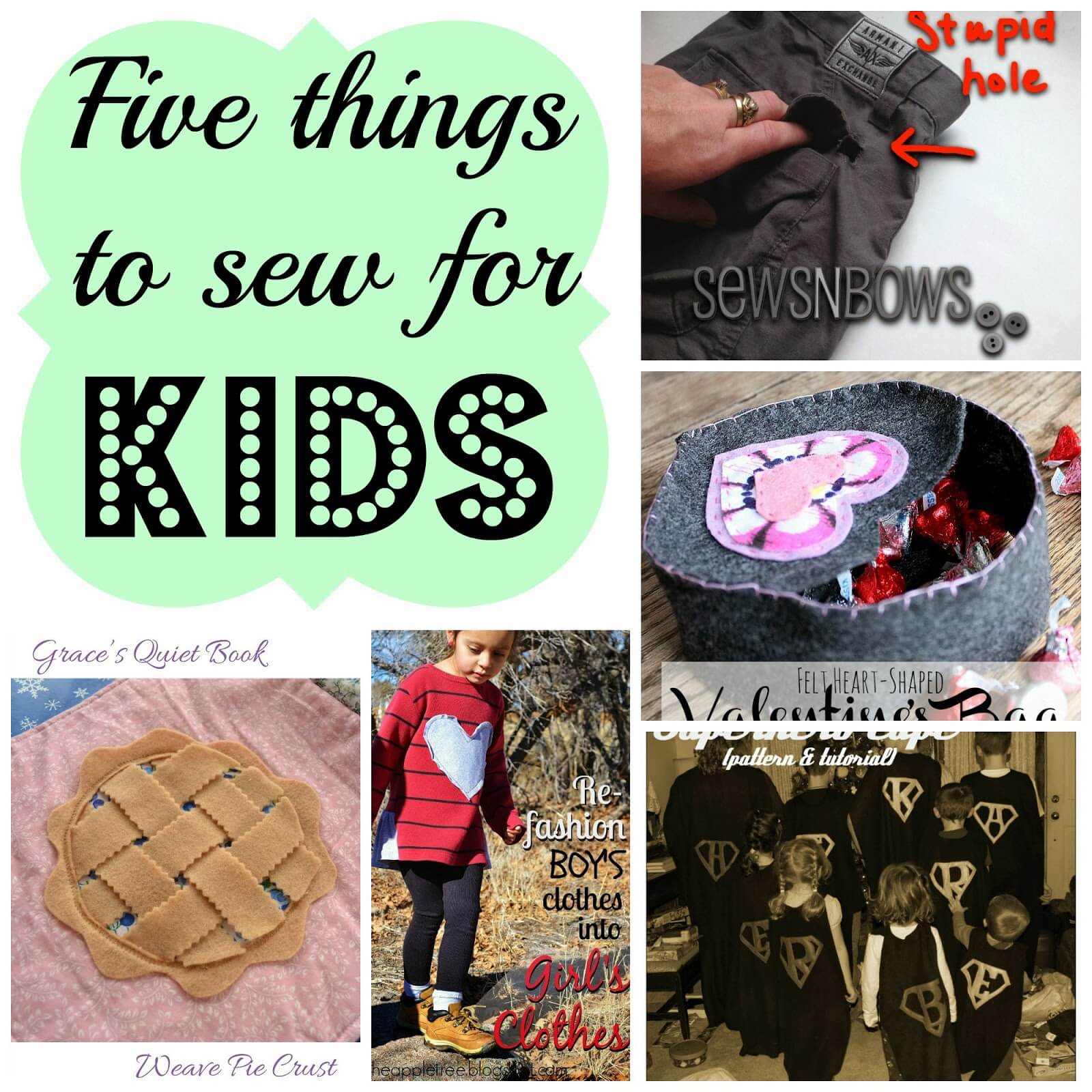 http://nap-timecreations.com/2014/02/5-things-to-sew-for-kids-features.html
