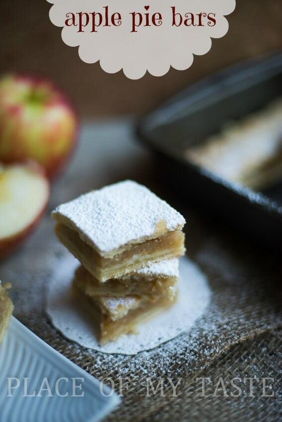 Apple Pie Bars @placeofmytaste.com-12