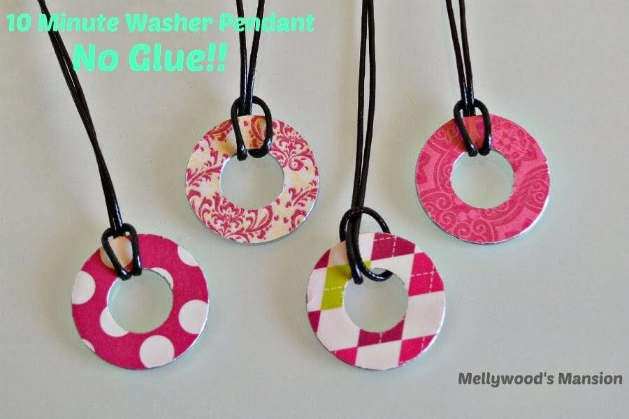 No Glue Washer Pendants 2