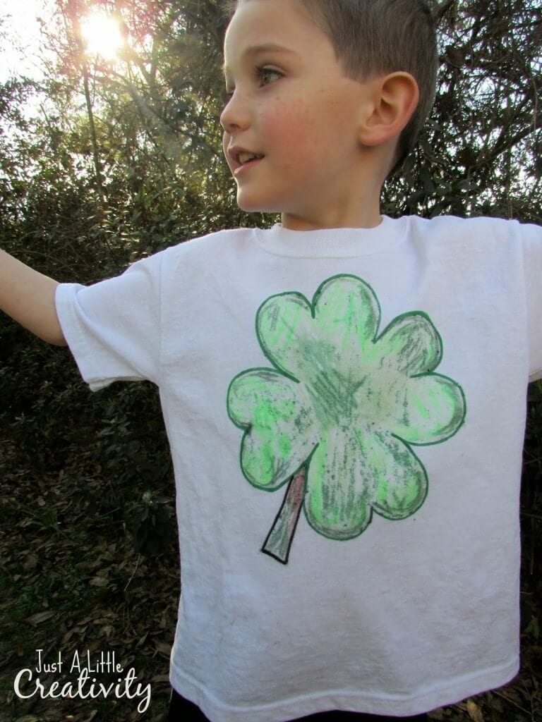 diy shamrock shirt