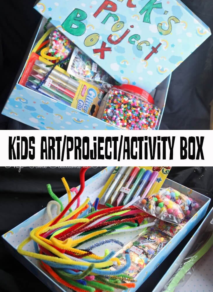 kids project box - activity and art box for creativity from Life Sew Savory