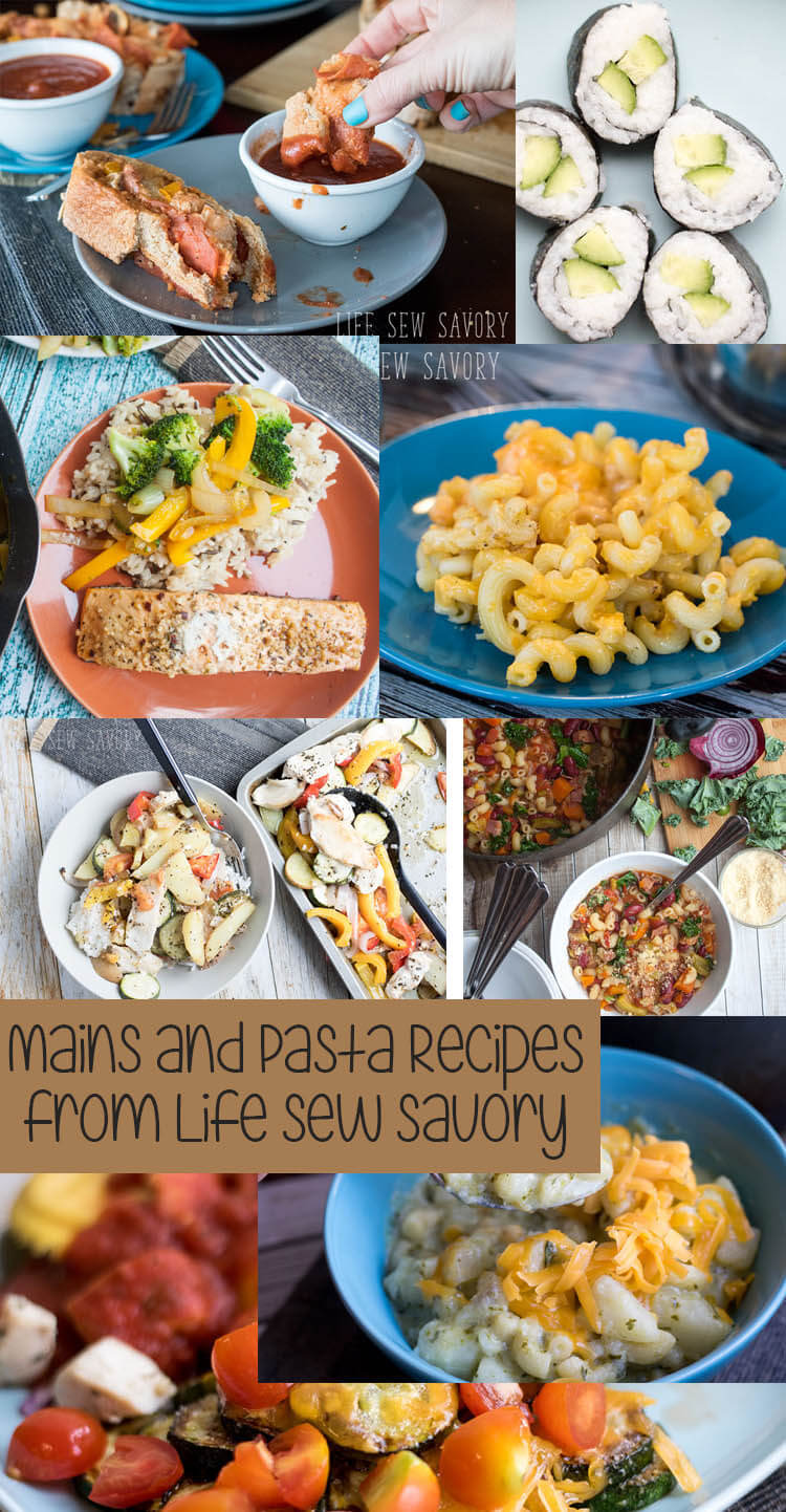 Mains & Pasta Recipes from Life Sew Savory