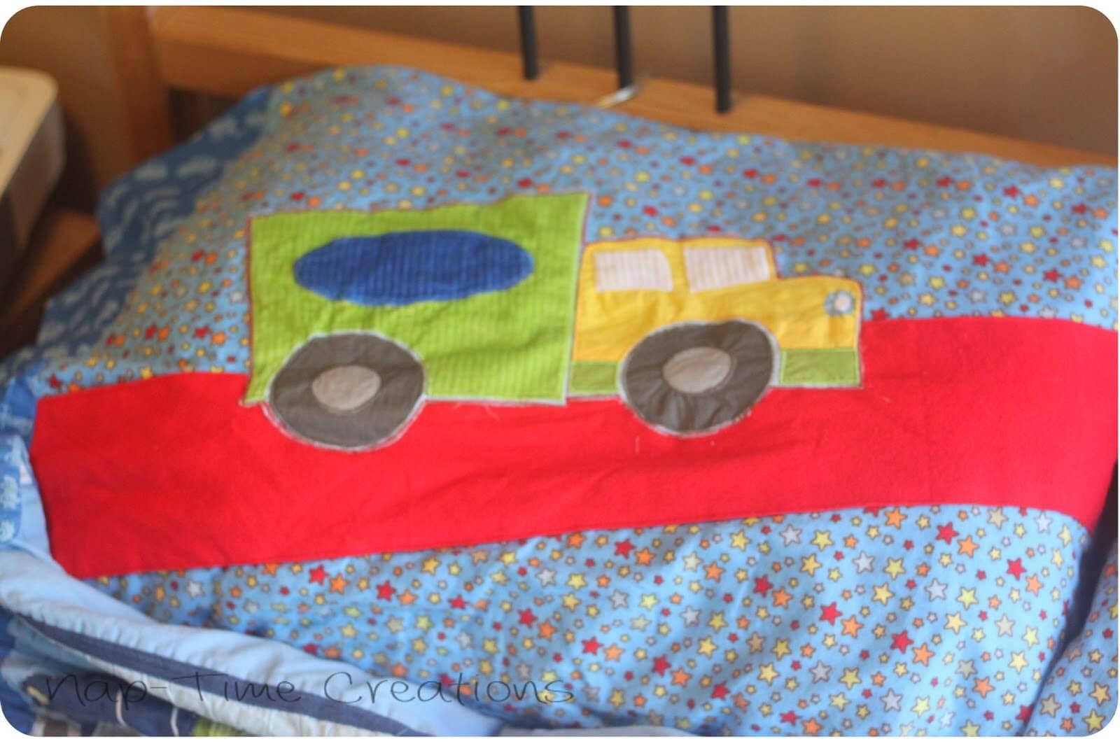 Pillow Sham to Pillow Case Tutorial