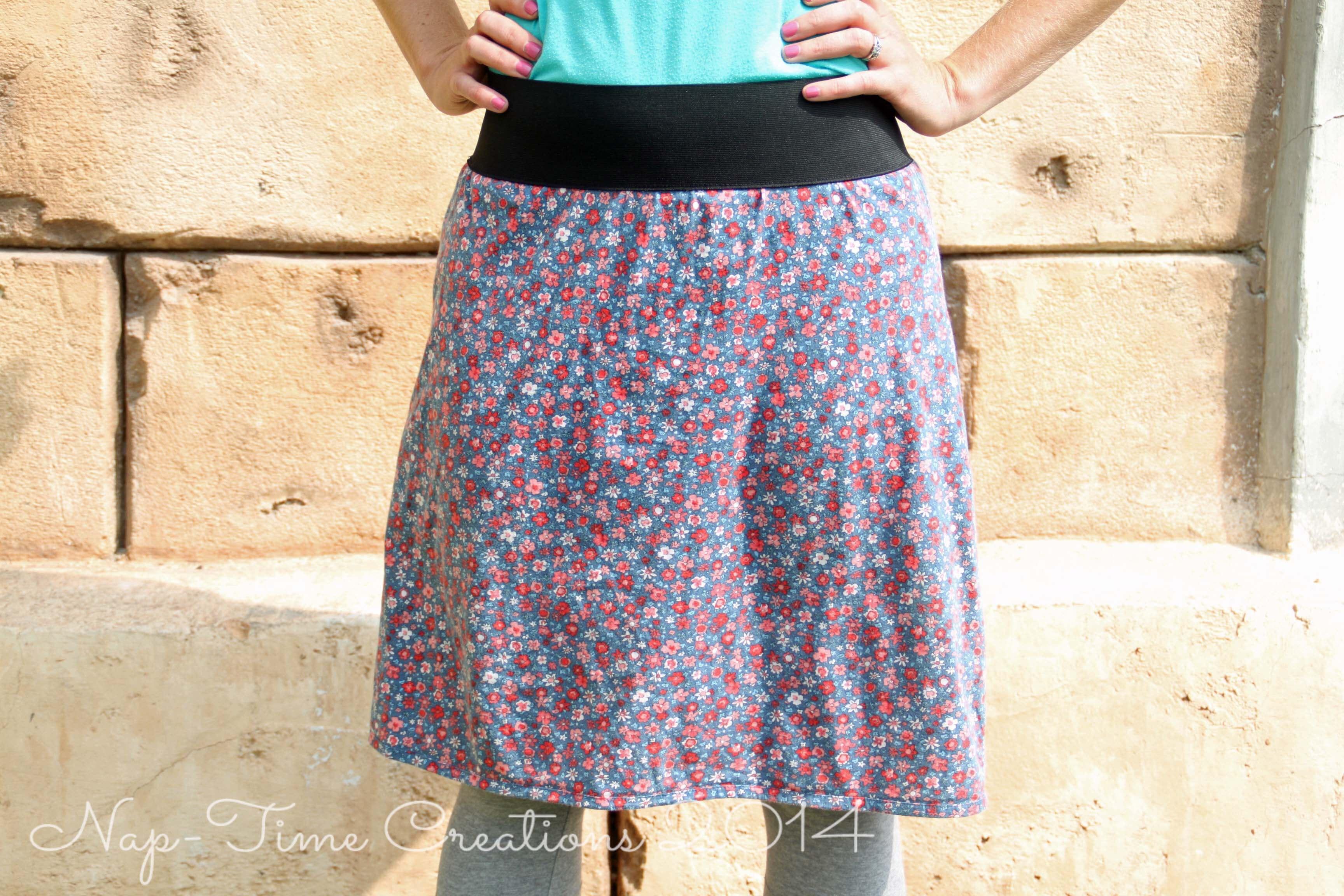 Dress to Skirt Refashion
