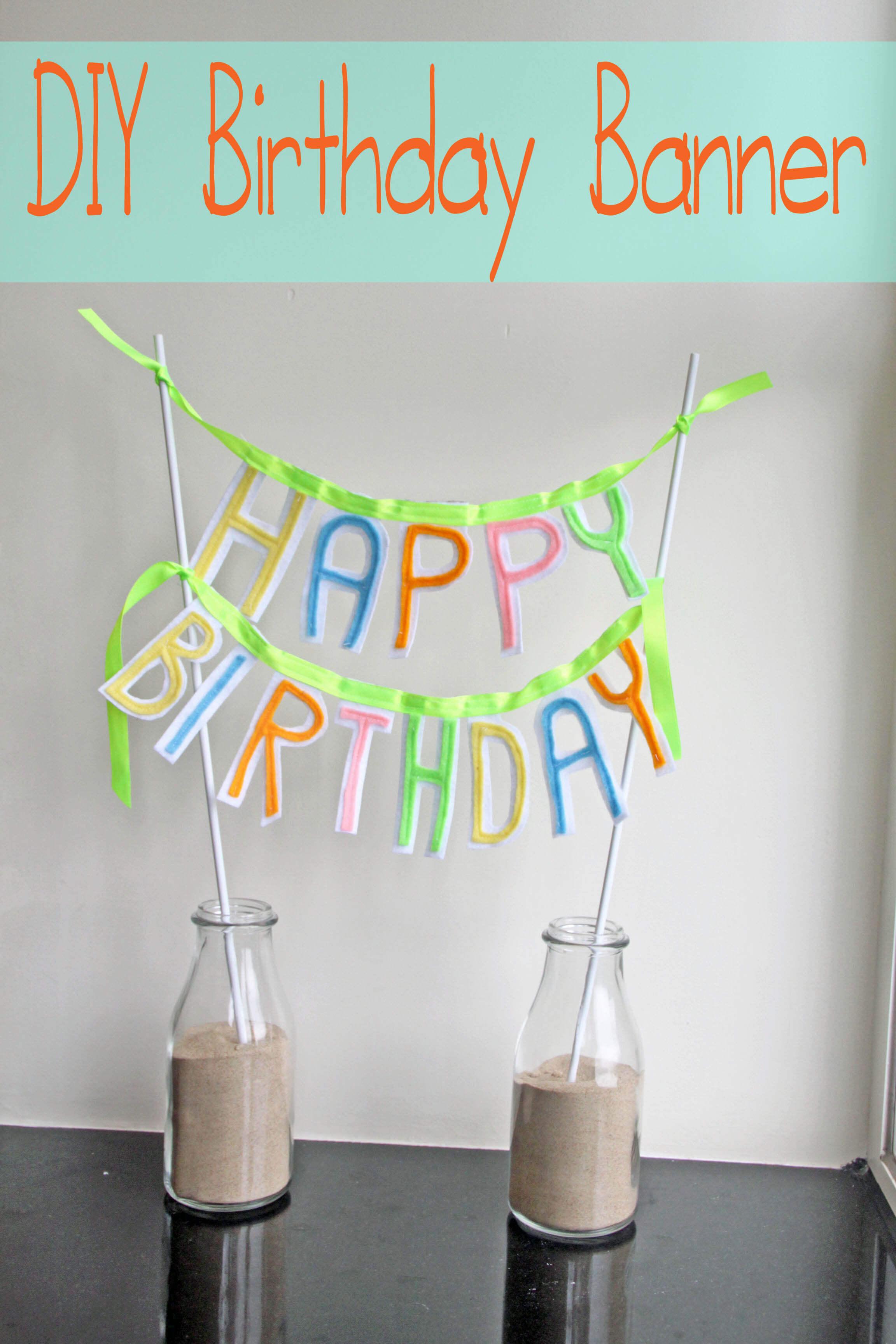 Felt Birthday Banner - Nap-time Creations