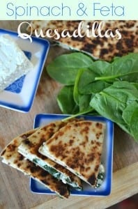 Spinach+and+Feta+Quesadillas