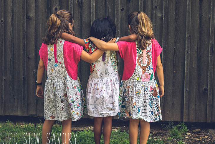DIY dress project with coloring fabric