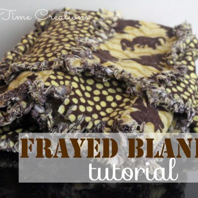 Frayed Flannel Baby Blanket {Tutorial}