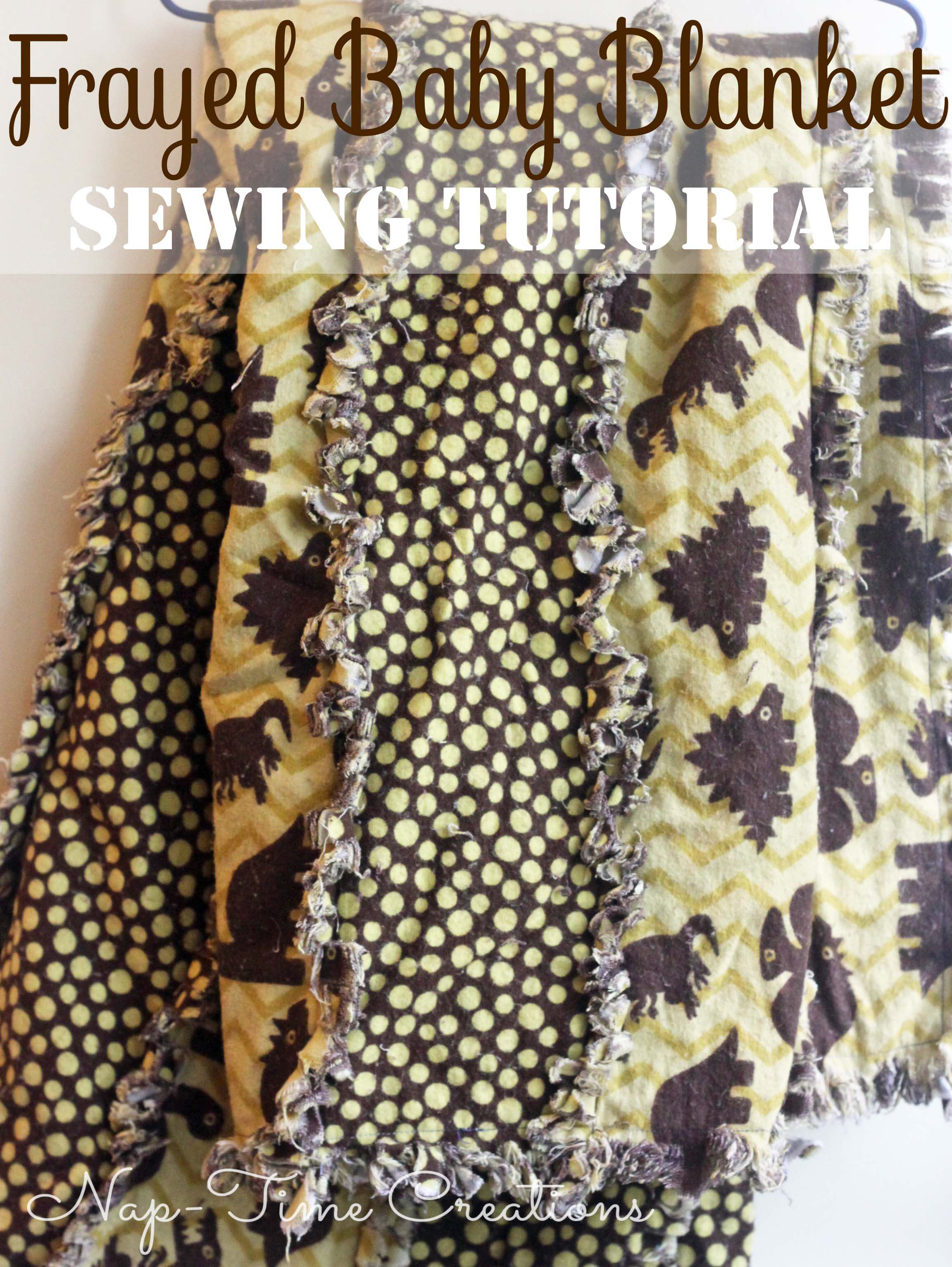 Frayed Flannel Baby Blanket Tutorial Life Sew Savory