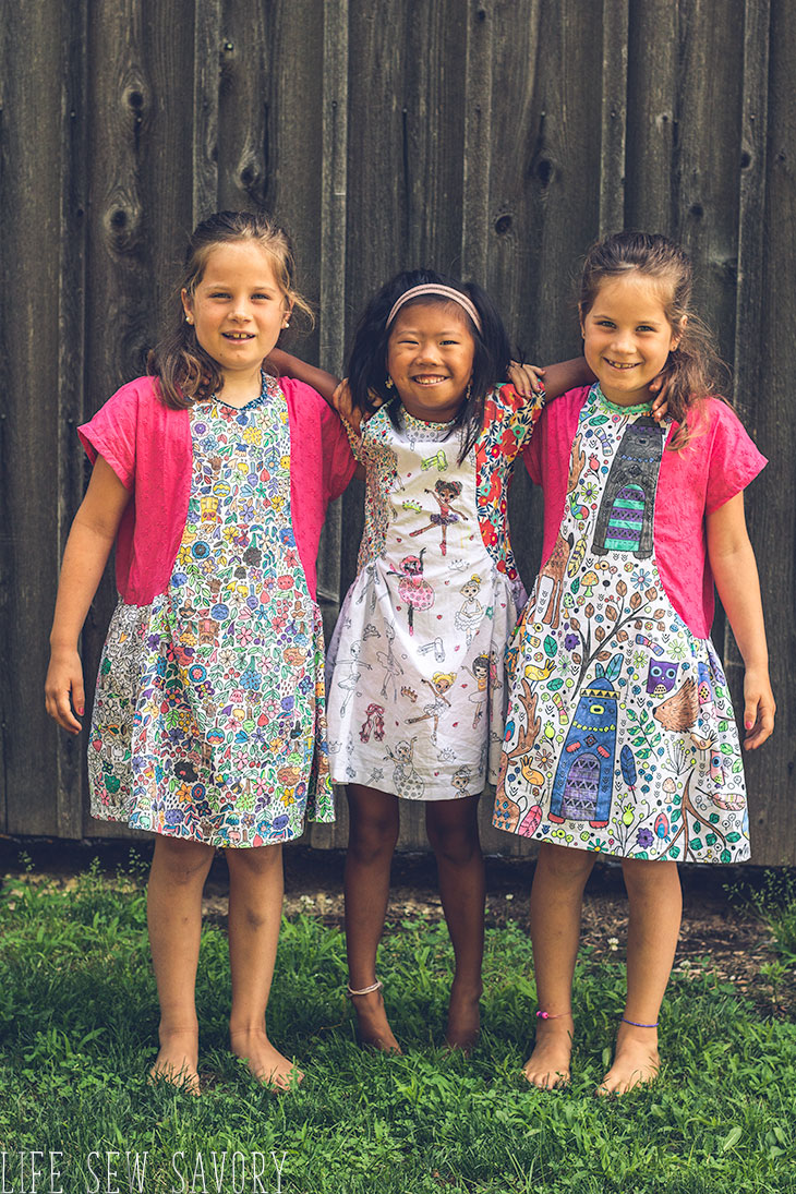 color your own dress with color me fabric