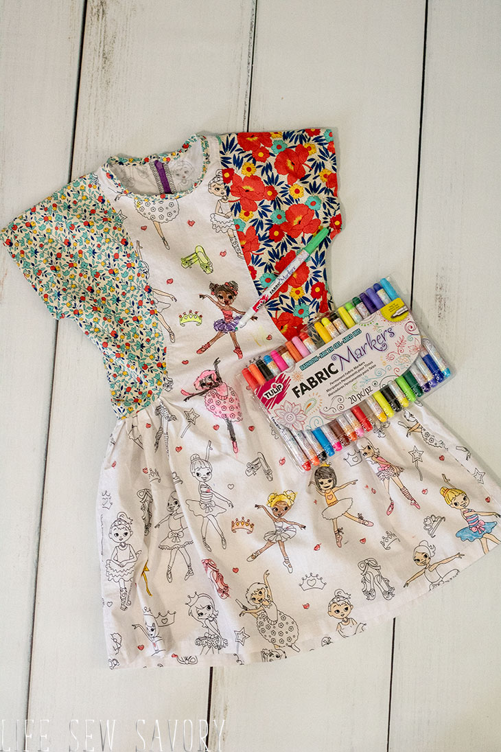 Color your own dress gift set