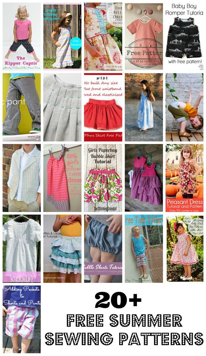 20+ Free Sewing Patterns for Kids - Life Sew Savory